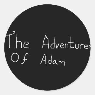 Adventures of Adam Merch Classic Round Sticker
