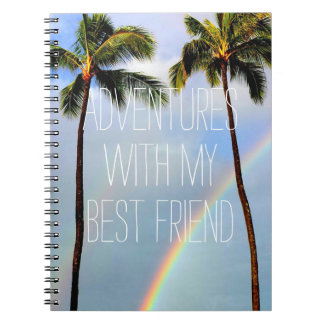 Adventures with my best friend travel quote notebook