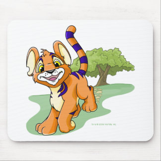 Adventurous orange Kougra on Mystery Island Mouse Mat