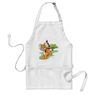 Adventurous orange Kougra on Mystery Island Standard Apron