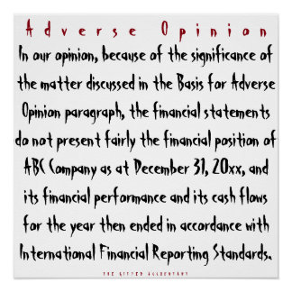 """Adverse Opinion"""
