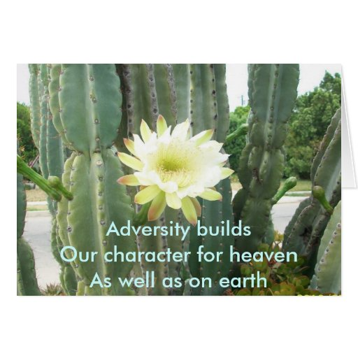 Adversity Builds Greeting Card