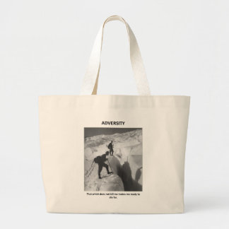 adversity-that-which-does-not-kill-me-makes-me jumbo tote bag