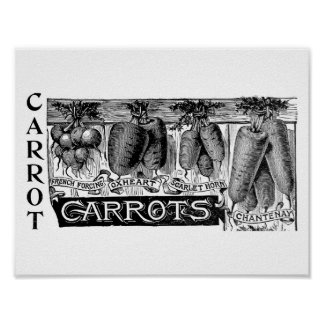Advert 4 vintage carrots poster