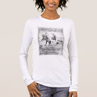 Advert for Levi Strauss & Co, c.1900 (litho) Long Sleeve T-Shirt