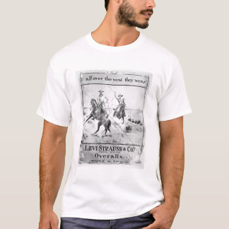 Advert for Levi Strauss & Co, c.1900 (litho) T-Shirt