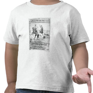 Advert for Levi Strauss & Co, c.1900 (litho) Tees