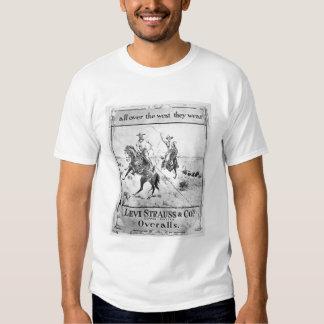 Advert for Levi Strauss & Co, c.1900 (litho) Tshirts
