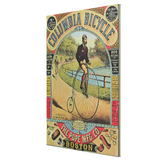 Advert for the Columbia Bicycle Canvas Print