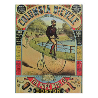 Advert for the Columbia Bicycle Post Card
