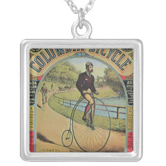 Advert for the Columbia Bicycle Silver Plated Necklace