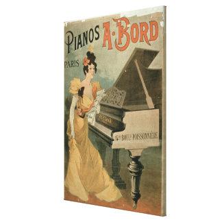 Advertisement for 'A. Bord Pianos, Paris' (colour Canvas Print