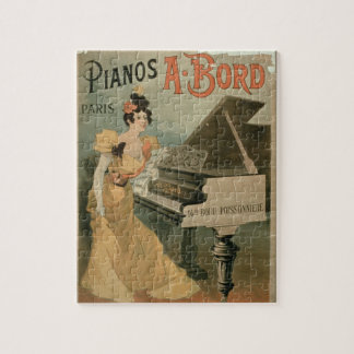 Advertisement for 'A. Bord Pianos, Paris' (colour Jigsaw Puzzle