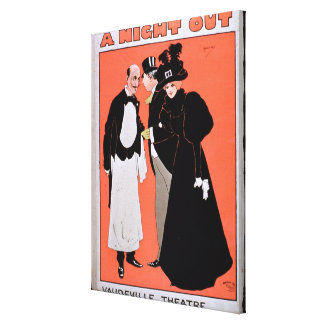 Advertisement for 'A Night Out', at the Vaudeville Canvas Print