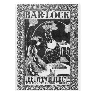 Advertisement for Bar-Lock Typewriters, c.1895 Postcard