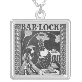 Advertisement for Bar-Lock Typewriters, c.1895 Silver Plated Necklace