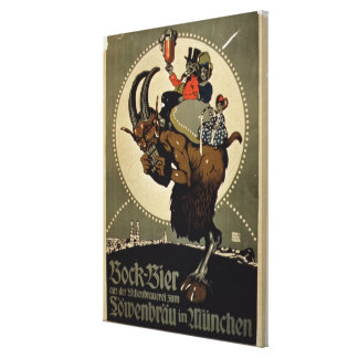 Advertisement for 'Bock Beer from Lowenbrau Brewer Canvas Print