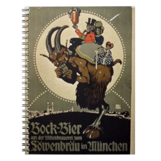 Advertisement for 'Bock Beer from Lowenbrau Brewer Notebooks