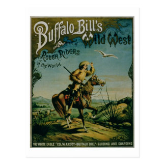 Advertisement for 'Buffalo Bill's Wild West and Co Postcard