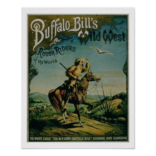 Advertisement for 'Buffalo Bill's Wild West and Co