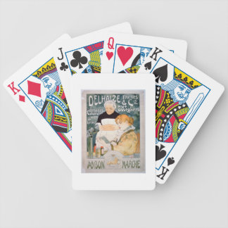 Advertisement for Delhaize, Brothers and Co. at th Bicycle Playing Cards