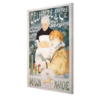 Advertisement for Delhaize, Brothers and Co. at th Canvas Print