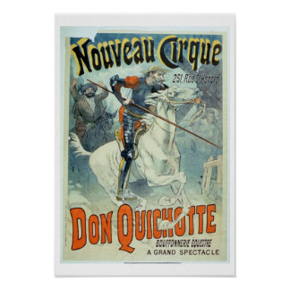 Advertisement for 'Don Quixote, New Circus', Horse Poster