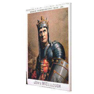 Advertisement for 'John McCullough as Richard III' Canvas Print