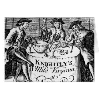 Advertisement for 'Knightly's Mild Virginia Greeting Card