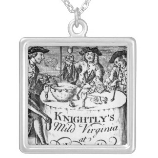 Advertisement for 'Knightly's Mild Virginia Silver Plated Necklace