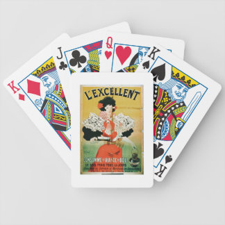 Advertisement for 'L'Excellent Beef Consomme' (col Bicycle Playing Cards