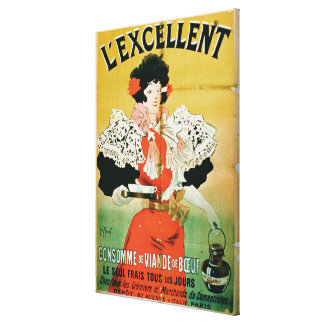 Advertisement for 'L'Excellent Beef Consomme' (col Canvas Print
