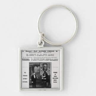 Advertisement for Maskelyne & Devant's Mysteries Silver-Colored Square Key Ring