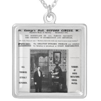 Advertisement for Maskelyne & Devant's Mysteries Silver Plated Necklace