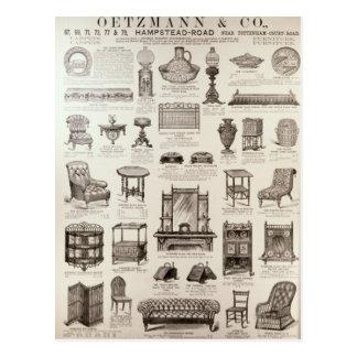 Advertisement for Oetzmann & Co. Postcard