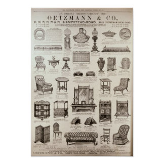 Advertisement for Oetzmann & Co. Poster