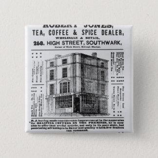 Advertisement for Robert Jones, Tea 15 Cm Square Badge