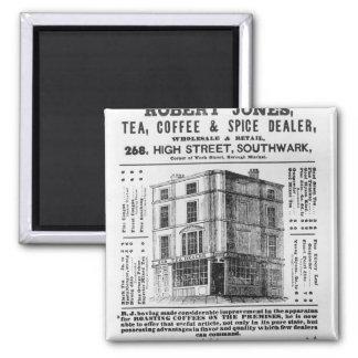 Advertisement for Robert Jones, Tea Magnet