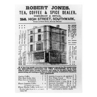 Advertisement for Robert Jones, Tea Postcard