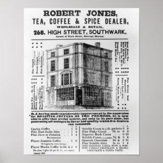 Advertisement for Robert Jones, Tea Poster