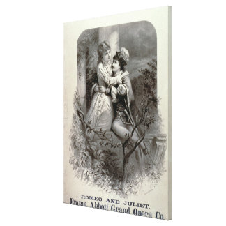Advertisement for 'Romeo And Juliet', Starring Emm Canvas Print