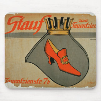 Advertisement for 'Stauf Shoes' (colour litho) Mouse Mat