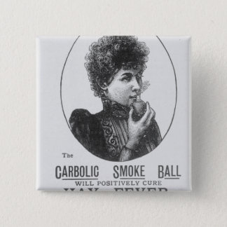 Advertisement for the Carbolic Smoke Ball 15 Cm Square Badge