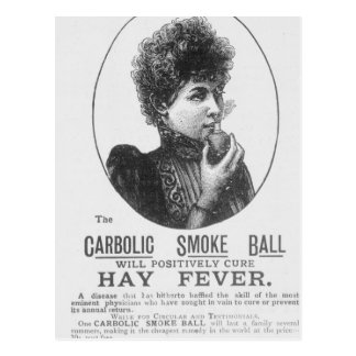 Advertisement for the Carbolic Smoke Ball Postcard