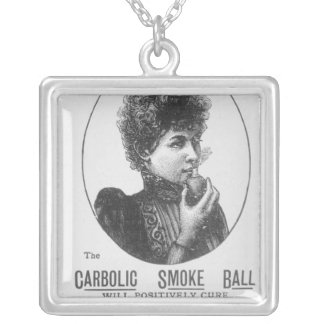 Advertisement for the Carbolic Smoke Ball Silver Plated Necklace