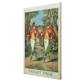 Advertisement for the 'Harley Brothers' (colour li Canvas Print