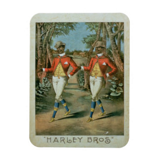 Advertisement for the 'Harley Brothers' (colour li Magnet