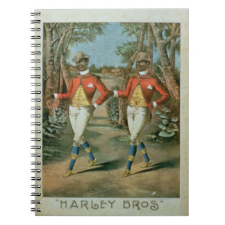 Advertisement for the 'Harley Brothers' (colour li Notebooks