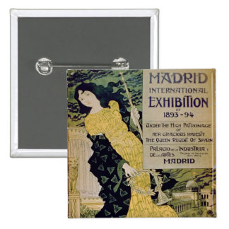 Advertisement for the 'Madrid International Exhibi Pinback Buttons