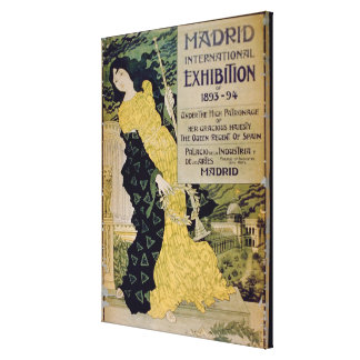 Advertisement for the 'Madrid International Exhibi Canvas Print